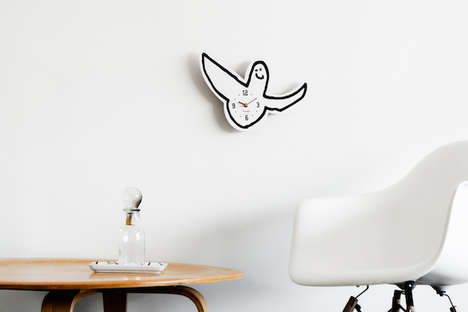 Urban Childlike Clocks - The Gonz Clock by Mark Gonzales and SECOND LAB is a Playful Angel