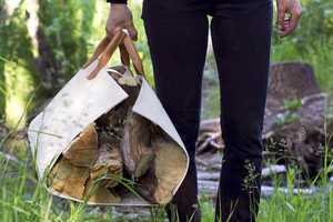 This Stylishly Versatile Log Tote Can Do More Than Just Carry Lumber
