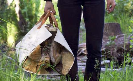 Canvas Firewood Carriers - This Stylishly Versatile Log Tote Can Do More Than Just Carry Lumber