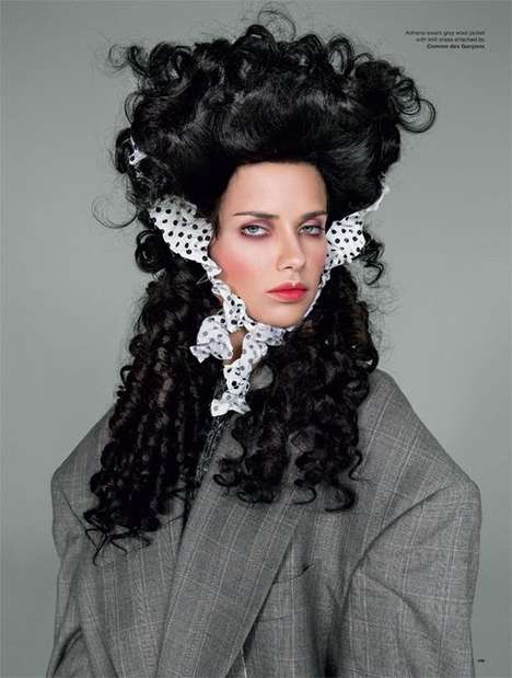 Vogue Victorian Era Editorials - The Love No. 12 Fall/Winter 2014 Ribbons Photoshoot is Retro