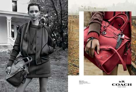 Zoomed Haute Handbag Campaigns - The Coach Fall/Winter 2014/2015 Photoshoot Features Up Close Images
