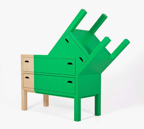 Mask-Inspired Furniture - Ana Jimenez Constructs the