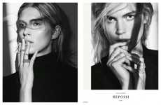 Portrait-Based Jewelry Campaigns - The Repossi Fall/Winter 2014/2015 Ads Display the Face Only
