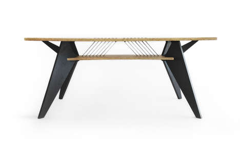 Masculine Industrial Desks - The Viva Desk by Shift is Full of Practical and Decorative Details