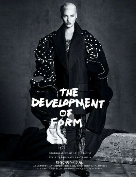 Structured Avante-Garde Editorials - This Linda Evangelista Editorial Explores New Forms of Fashion