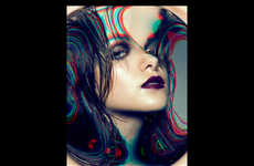 Hue Distortion Editorials - Glassbook Magazine's Colour Burst Beauty Story Plays with Perception