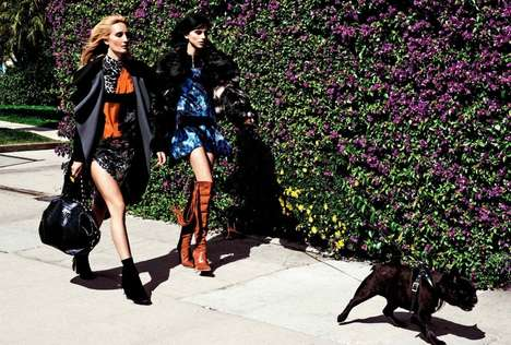 Rock-and-Roll Fashion Ads - The Latest Fall Campaign for Just Cavalli Stars Langley Fox Hemingway