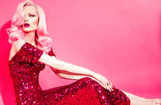 Crimson-Clad Siren Portraits - Glassbook Magazine's Jawbreaker Editorial is Old Hollywood Inspired