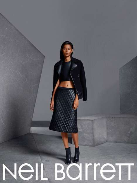 Geometric Stone Style Campaigns - The Neil Barrett Fall/Winter 2014/2015 Photoshoot is Angular