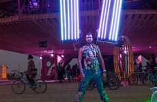One-Man Portable Photo Studio - The Human Light Suit by Erik Schwabel Helps Capture Burning Man