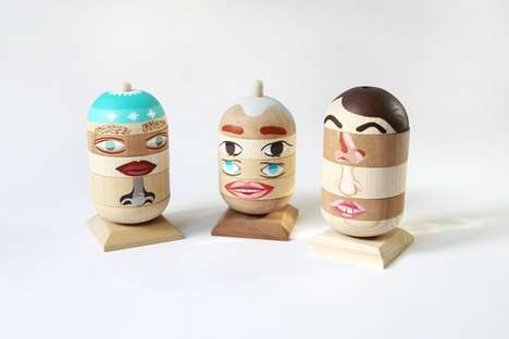 Mix-and-Match Wooden Toys - Designer Todd Borka Lets Children Create Different Characters