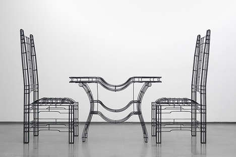 Steel Rod Furniture - Noiz Architects Creates the