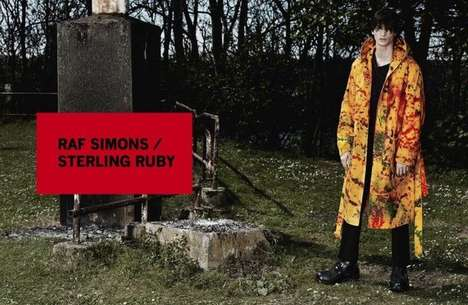 Dashingly Decrepit Style Campaigns - The Raf Simons X Sterling Ruby Fall/Winter 2014/2014 Set is Odd