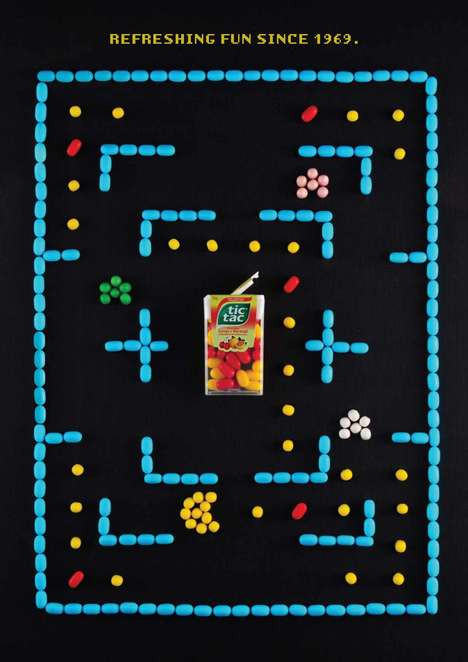Minty Arcade Ads - These Retro-Style Tic Tac Ads Feature Winning Bites of Fun