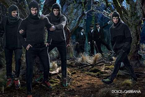 Medieval Menswear Fashion Campaigns - The Dolce & Gabbana Fall/Winter 2014/2015 Dolce Ads Are Retro