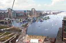 Audacious Floating Villages - The UK's First Floating Village Will be Built in a Dock in East London