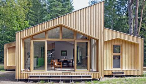 Luxurious Eco Abodes - Eentileen Arkitektur's Denmark Cabin Features a Sustainable and Chic Design