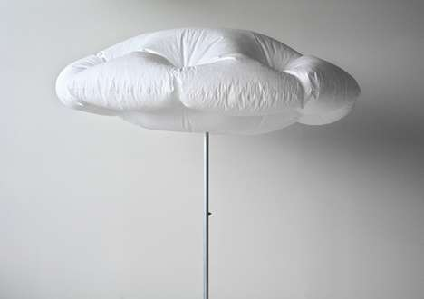 Inflated Cloud Umbrellas - The Innovative Cumulus Parasol Simulates the Look of a Real Cloud