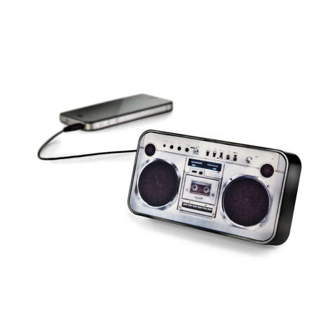 Mini Boombox Audio Systems - The Boom Boom Go Speaker by Donkey Products is Retro-Themed