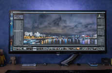 Monstrously Massive Monitors - This 34-Inch LG Monitor is Jaw-Droppingly Big