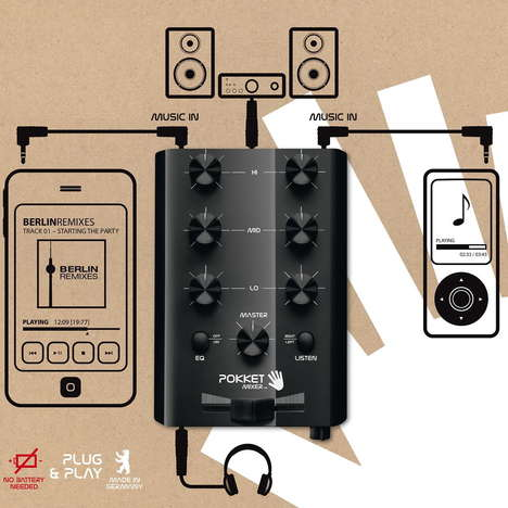 Mobile Music Mixers - Pokket Lets Tech Lovers Play the Role of DJ with Its Phone-Friendly Design