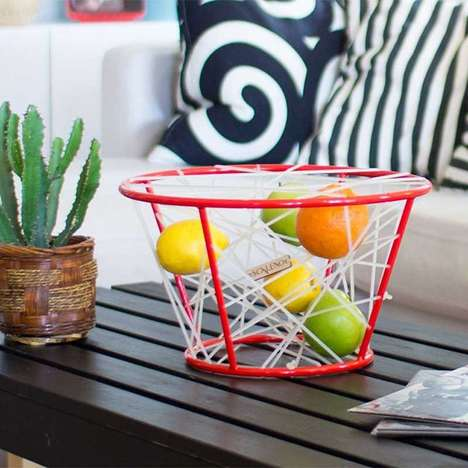 Elastic Fruit Baskets - These Stylishly Modern Basket Designs Keep Fruit From Getting Smushed
