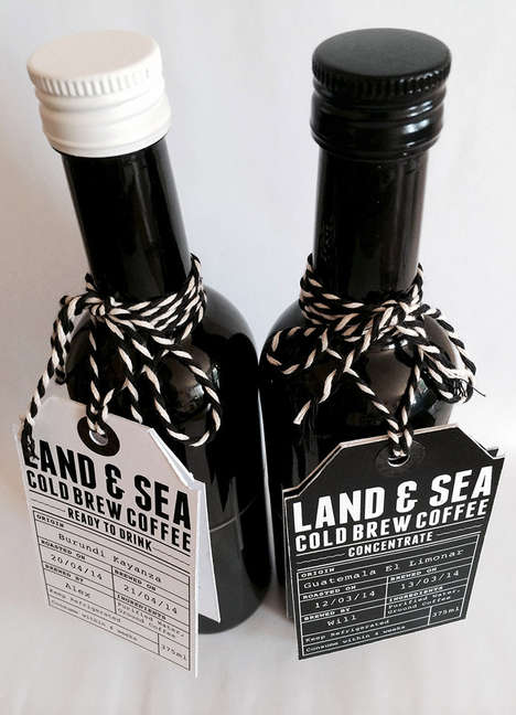 Nautical Coffee Packaging - Land & Sea Turns to the Ocean for Inspiration
