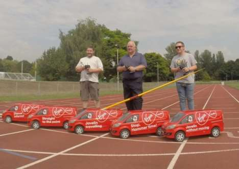Mini Remote-Controlled Vans - These Vans are Becoming Important Commonwealth Games Equipment