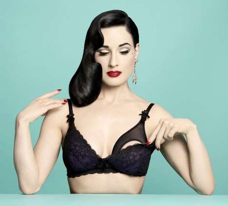 Sultry Maternity Lingerie - Von Follies by Dita Von Teese is a Retro Maternity Lingerie Collection