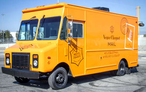 Romantic Mail Trucks - The Veuve Clicquot Mail Truck Revives the Art of Handwriting