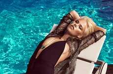 Golden Glam Swimwear Editorials