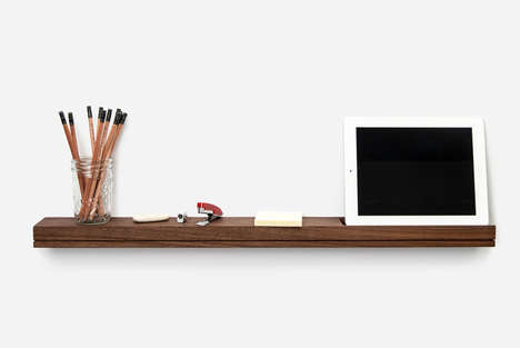 Slim Wall-Mounted Consoles - Singular by Alpha India is Great for Small Spaces