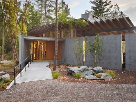 Ecological Forest Abodes - This Eco-Friendly Residence Considers Site Impact