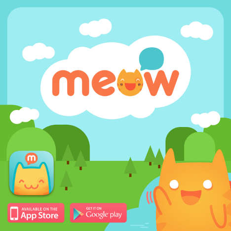 Catty Social Networking Apps - The MeowChat App Combines Social Networking, Dating and Cartoon Cats