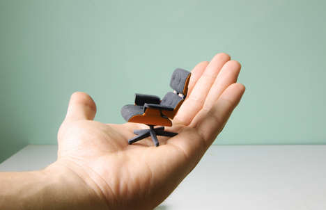 Designer Chain Minatures - This Mini Eames Lounge Chair by Kevin Spencer Celebrates the Iconic Seat