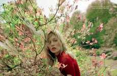Mythical Garden Editorials - Model Kate Moss and Several Others Pose for Love Magazine