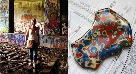 Decayed Wall Jewelry - These High-End Pieces are Made From Detroit Graffiti and Help the Community