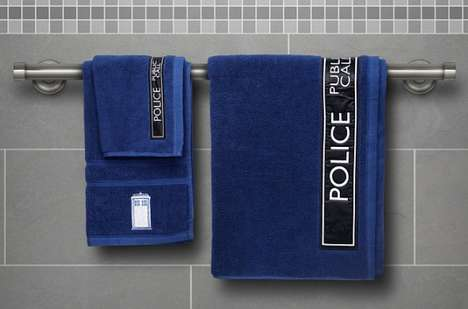 Time Machine Towels - These Doctor Who Bath Towel Designs are Perfect for Sci-Fi Enthusiasts