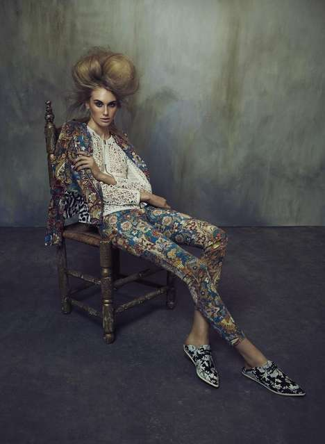 Ballooning Hair Editorials - Model Dauphine Mckee Embraces Modern Baroque Fashion for Flare Magazine