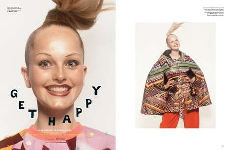 Posh Ponytail-Specific Editorials - The Love No. 12 Get Happy Photoshoot is Upbeat and Tress-Minded