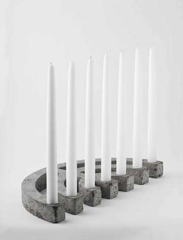Modern Concrete Menorahs - XYZ Integrated Architecture Studio Updates the Hanukkah Staple