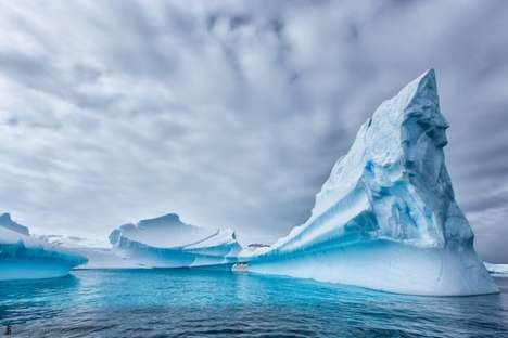 Hyperrealistic Iceberg Photography - Martin Bailey Photographs Huge Icebergs from Antarctica