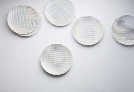 Contemporary Geometric Plates - Mix And Match by Leslie David is a Set of Decorative Dishes