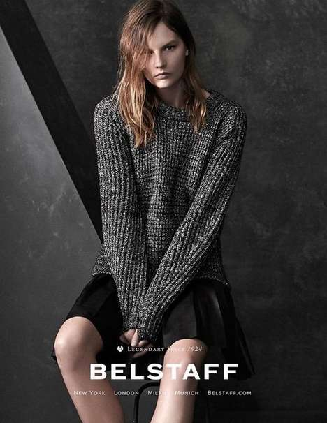 Tailored Tortured Soul Campaigns - The Belstaff Fall/Winter 2014/2015 Ads Incorporate Grungy Looks