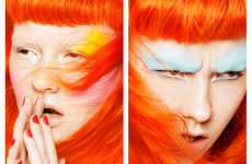 Electric-Hued Cosmetic Captures - Glassbook Magazine's Color Punch Story Boasts Vibrant Beauty Looks