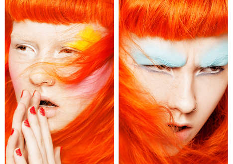Electric-Hued Cosmetic Captures - Glassbook Magazine