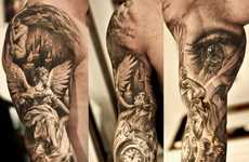 Mural Sleeve Tattoos