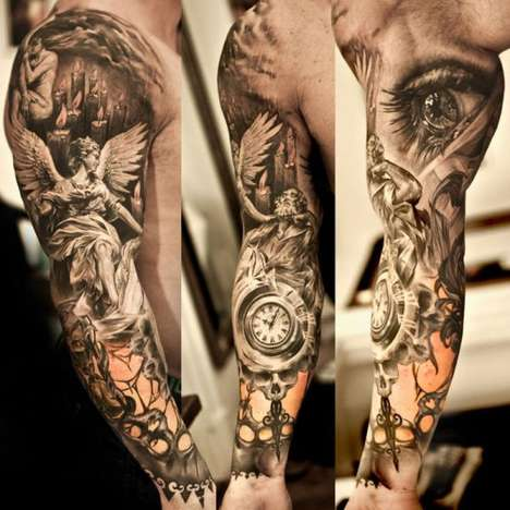 Mural Sleeve Tattoos - Niki Norberg Inks Works of Art on His Lucky Clients