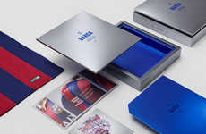 Sleek Jersey Packaging - This Premium Soccer Jersey Box Houses Team Barcelona's Kit