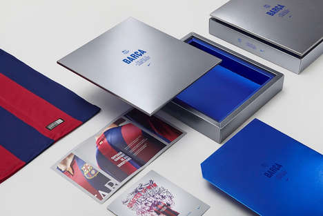 Sleek Jersey Packaging - This Premium Soccer Jersey Box Houses Team Barcelona